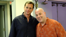 Al and Bob Saget backstage at Lisner Auditorium.