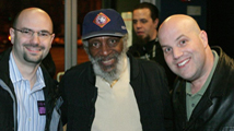 Al with best friend, Alec Berry, and the iconic, Dick Gregory.