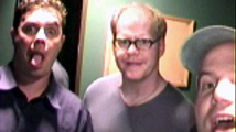 Al with friends, Mike Storck and Jim Gaffigan. Good times - always.