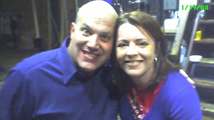 A very excited Al and the brilliantly hilarious, Kathleen Madigan.