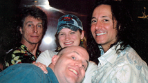 Al with Steve Augeri and Ross Vallory (of Journey) on Carnival's Rock and Roll Cruise.