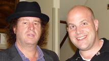 Al after the show at the Warner Theatre with Steven Wright.